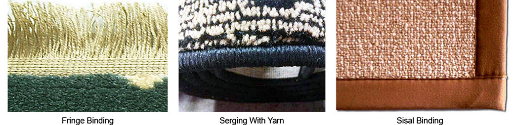 Rug Carpet Binding - Fringe Binding - Serging With Yarn - Sisal Binding