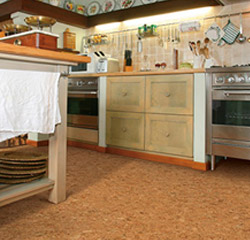 Kitchen remodeled with Cork Flooring